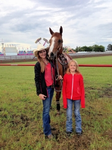 Meggie and her favorite Barrel Racer Lindsey Sears and her horse Martha